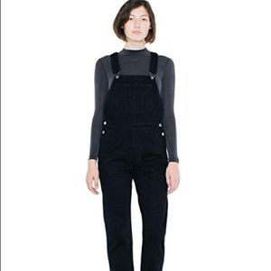 Worn Once American Apparel Black Overalls.